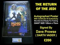 Autographed RETURN OF THE JEDI Poster