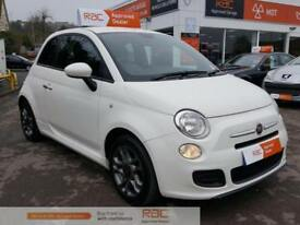 FIAT 500 S White Manual Petrol, 2014