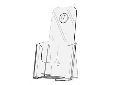 Tri Fold Brochure Holder Wall Or Desk Top Display Literature Stand 4 W Premium