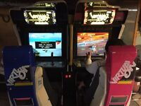 Virtual on cyber troopers arcade game