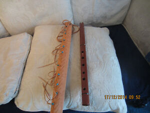 New Andean Flute With Artistic Leather Case $110.