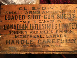 1920 Wooden Ammunition Box Canadian Industries Ltd. Strathcona County Edmonton Area image 3