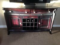 Solid wood wine/dining cabinet