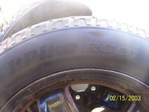 Set of 4 Steel winter rims with tires Cornwall Ontario image 3