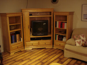 meuble de télévison en frêne massif