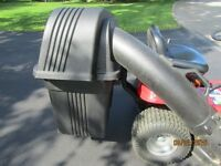 lawn tractor double bagger