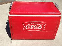 Glacière Coca Cola année 50-60