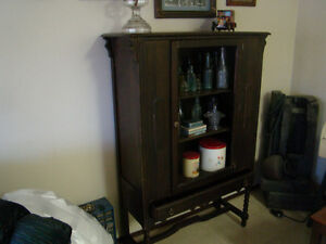 1920,30,s Kitchen cabinet about 5 ft tall nice piece solid walnt