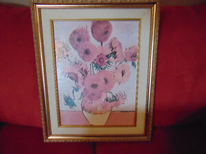 Vincent Van Gogh Flowers in Vase solid Framed Print