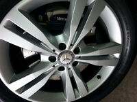 New Original Equipment Mercedes ML 350 Rims off 2015