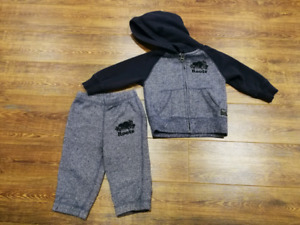 EUC Baby roots track suit $25
