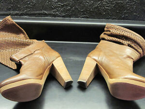 BRAND NEW REAL LEATHER & SUEDE with REAL WOOD HEELS BOOTS Oakville / Halton Region Toronto (GTA) image 2