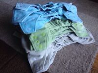 Gently used Kawaii One Size Cloth Diapers