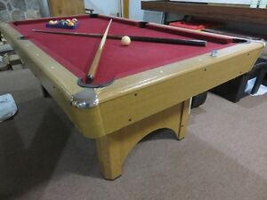 Pool Table with foldable legs in good condition non-slate asking