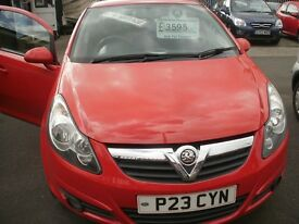VAUXHAL CORSA 2009 , 1.2 SXI 5 DOOR ,IN TOUCH LTD EDITION, GENUINE 60K FSH
