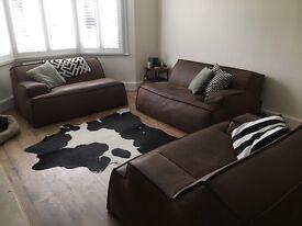 Baxter damasco modular sofa and love seat