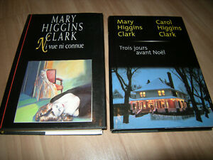 Lot de 13 volumes divers de Mary Higgins Clark
