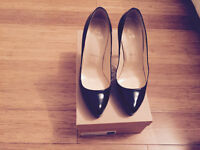 Christian Louboutin Rolando black patent shoes