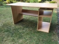Large desk with storage space