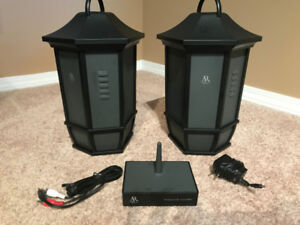 Acoustic Research wireless outdoor lantern style speakers