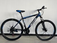 """Bicystar 26"""" Wheel Unisex Mountain Bike in Blue & Red Color, 21 Speed, Front & Rear Disc"""