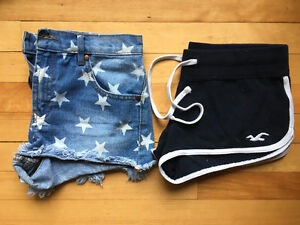 Summer lot:  shorts, skirts by Holister