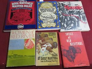 SELECTON OF MOUNTIE AND MANITOBA HISTORY BOOKS ESTATE
