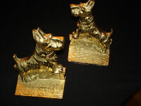 SOLID BRASS BOOK ENDS.