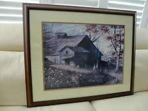 "Warm Memories -Michael Humphries Country Framed Print 33"" x 26"""