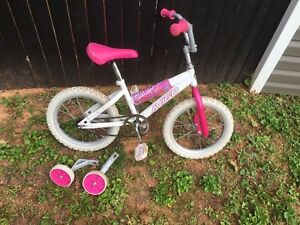 Girls 16 inch bicycle   40.00
