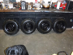 set of 4 New Tires and Rims Yamaha Grizzly Takeoffs