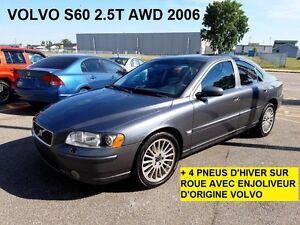 2006 VOLVO S60 2,5T  4X4 TRACTION INTEGRALE+ ENS.PNEUS D'HIVER