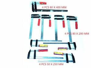 2//4Pcs F Clamps Woodworking Bar Clips Quick Slide Tools 50*150//50*300//80*600mm