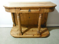 Mexican Rustic Pine Foyer Table, Delivered