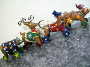 4 Animal Christmas Ornaments