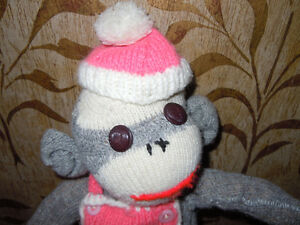 stuffed sock monkeys with knitted outfits Peterborough Peterborough Area image 3