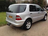 2000 MERCEDES BENZ M CLASS ML270 CDI 5dr Tip Auto 2.7 LEATHER SERVHISTORY GOO