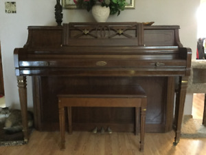 Wurlitzer Upright Piano with bench