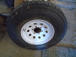 Trailer Tire and Rim LT235/85R16