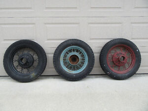 3 old rims with tires-Reduced!