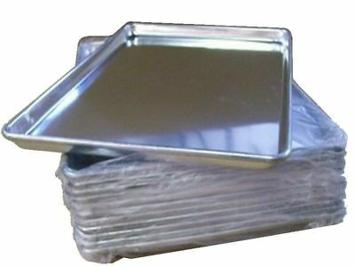 "12 PACK Full Size Aluminum 18"" x 26"" Bun Sheet Baking Pan Wire in Rim Commercial"