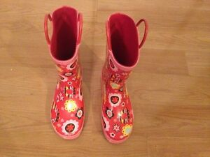 kids rain boots Junior size 2 West Island Greater Montréal image 1