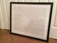 Large black and silver frame