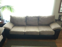 Amazing micro-suede & leather couch and love seat