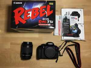 Canon EOS Rebel T5i DSLR Camera with 18-55mm Lens + 16GB SD Card