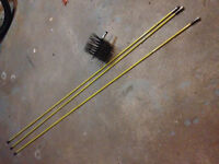Chimney cleaning brush and rods
