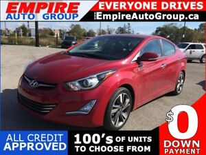 2015 HYUNDAI ELANTRA LIMITED * LEATHER * NAV * REAR CAM * SUNROO