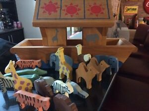 Hand crafted Noah's arc with animals