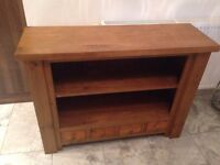4 drawer solid oak bookcase