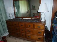 Imperial Loyalist Dresser with Twin Bed